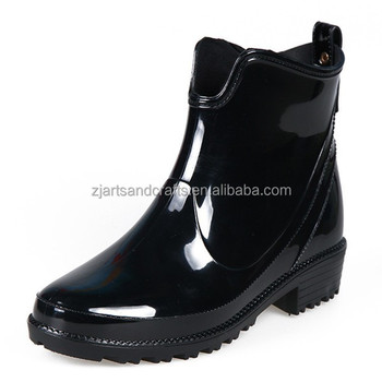 PVC skid-anti cownoy ankle lucky women rain shoes boots