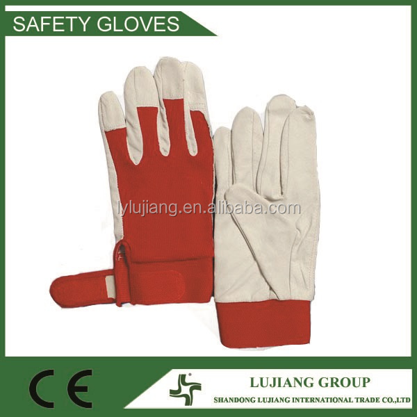 LJ-MS2605A 10'' soft surface and top quality Goat leather work driver gloves