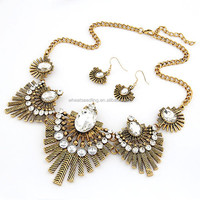 Costume neacklace light weight gold necklace sets