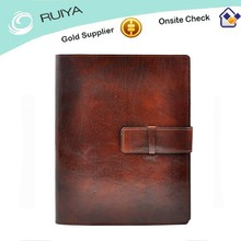 Vintage High Grade Genuine Leather Portfolio for Promotion Gifts