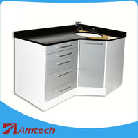 High quality functional clinic cabinet AML-07 for dental corner cabinet hospital furniture