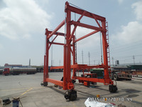 36ton connected mast mobile container crane