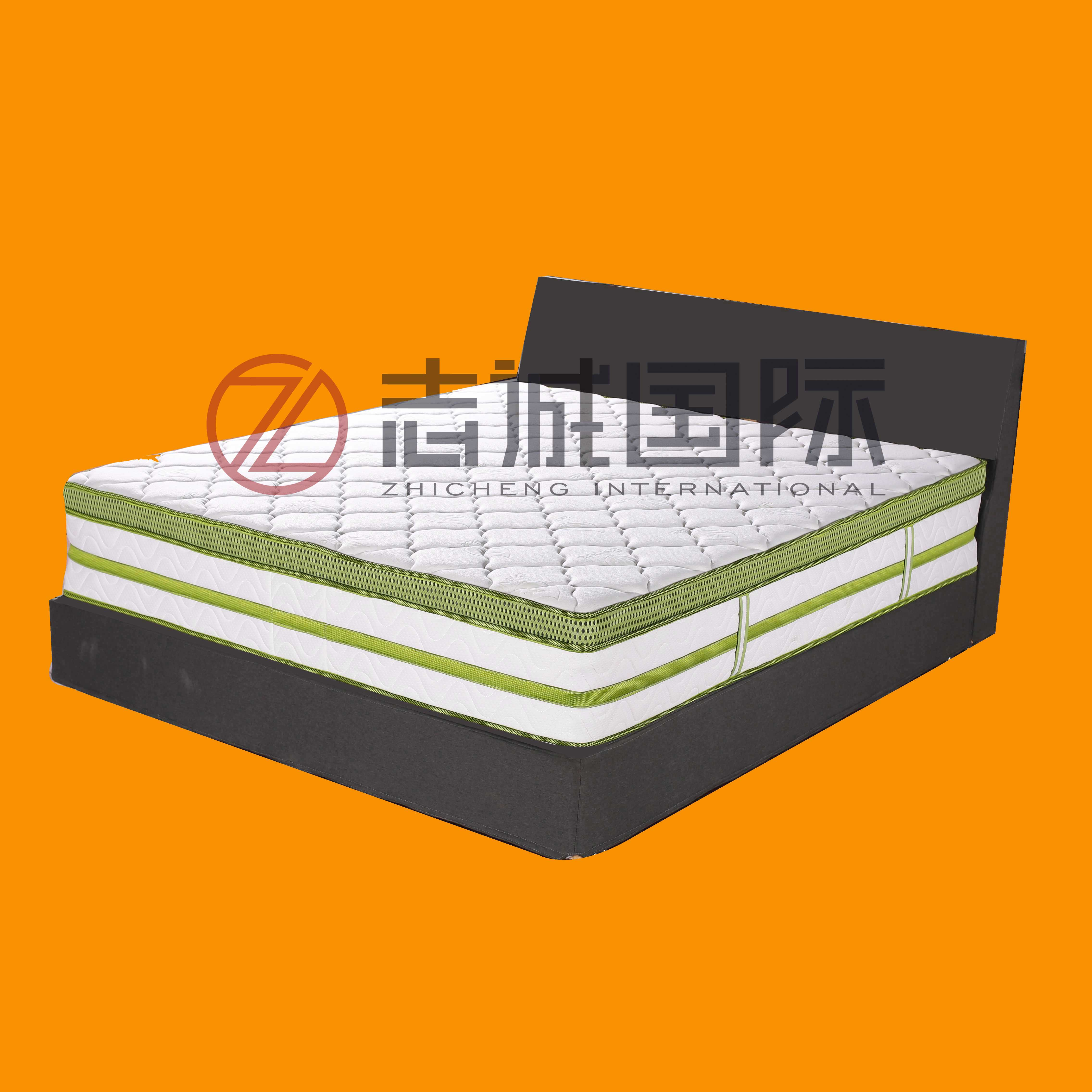 Euro top roll up 5 zone pocket coil spring super single double twin queen king full size bed memory foam mattress - Jozy Mattress | Jozy.net