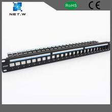 16 24 Port 1U Rack Mountable Utp Cat5e Blank Patch Panel