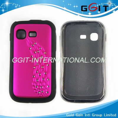 For Samsung S5300 Pocket Bling Diamond Hard Case Protector Cover