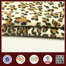 China manufacturer popular animal design velour fabric
