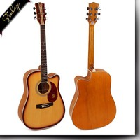 Finlay FD-1616C 41 inch yellow chinese handmade wholesale distributors with pick up folk custom acoustic guitar