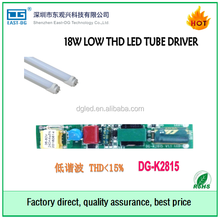 China supplier non isolated led tube driver 15w 16w 18w 20w low THD<15% with 3 years warranty T8 power supply