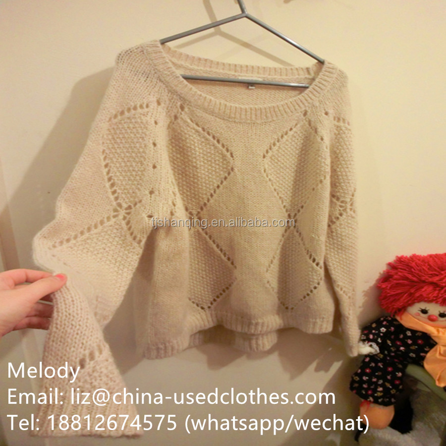 used clothes/used young lady fashion sweater