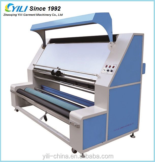 Auto edge thick fabric inspection and relaxing machine, denim fabric length measuring machine for garment and textile finishing