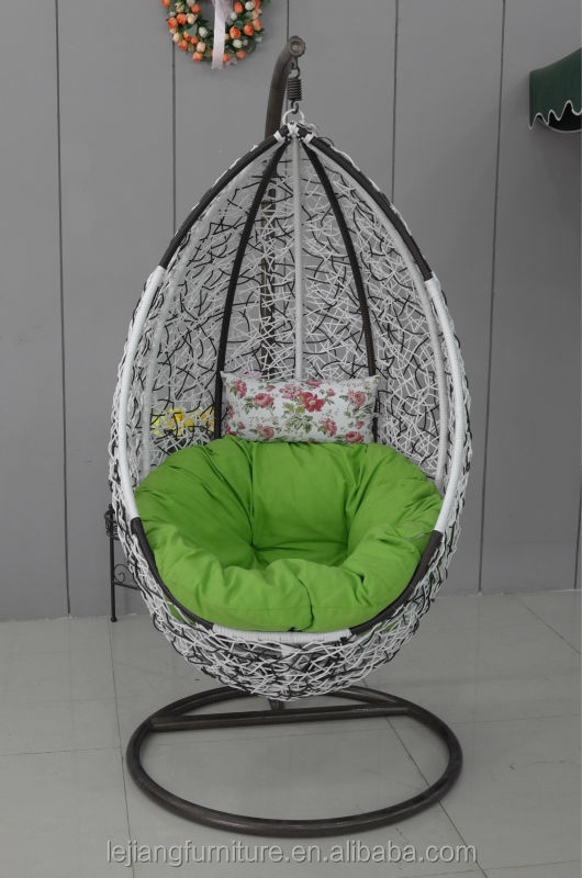 cheap new style water drop rattan/wicker hanging swing chair