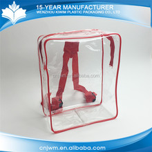 Hot popular mini zip lock clear pvc backpack photo