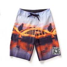 OEM Production of Custom Water- repellent Peach Skin Men's Beach Shorts