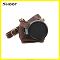 Genuine Camera Case For GoPro HERO5 Leather Protective Case with 52mm UV filter for gopro hero 5