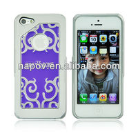 Napov - Dog & Bone Unique Products Tattoo Purple Metal Pattern Cell Phone Case for Apple iPhone 5 housing