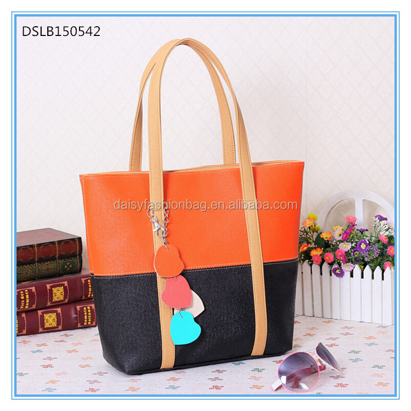 Yiwu factory new arrival hot sale Wholesale PU leather fashion lady hand bag, fashion hand bag