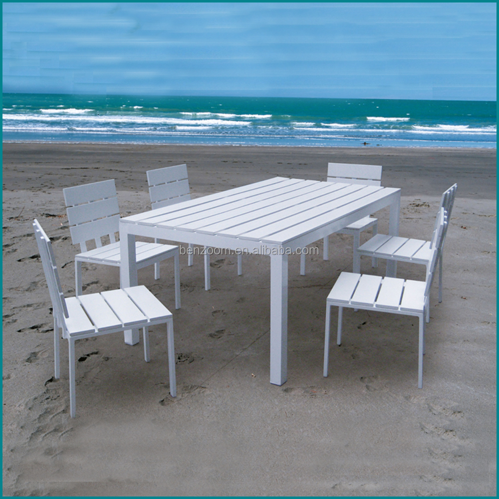 Outdoor patio polywood material used hotel outdoor furniture AW-909TC