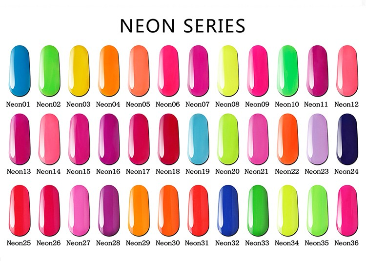 Bluesky popular Neon series uv gel Polish with free sample nail polish factory price