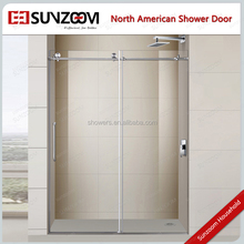 Sunzoom New design tempered glass frameless sliding shower door