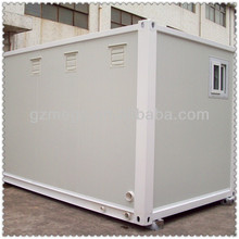 portable container lavatory with exhaust fans