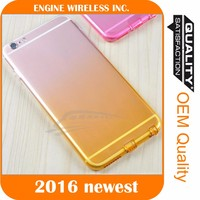 Gradient TPU Edge Bumper Rubber Silicone Skin Cove for iphone4/5/6s/6s plus