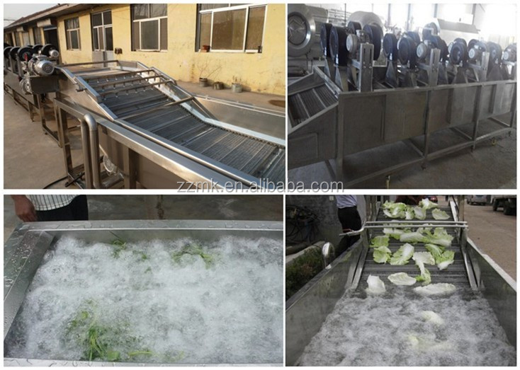 Water bubble washing machine, Industrial vegetable and fruit washing machine