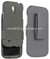 Fashion Belt Clip Holster & Rubber Hard Case Cover For Samsung Galaxy S4 Mini i9190