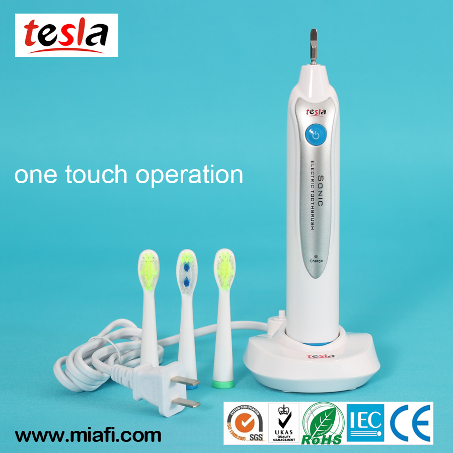 Ni-NH <strong>Eco</strong> Friendly FDA Approved Rechargeable OEM Electric Battery Toothbrush Vibrator with Led