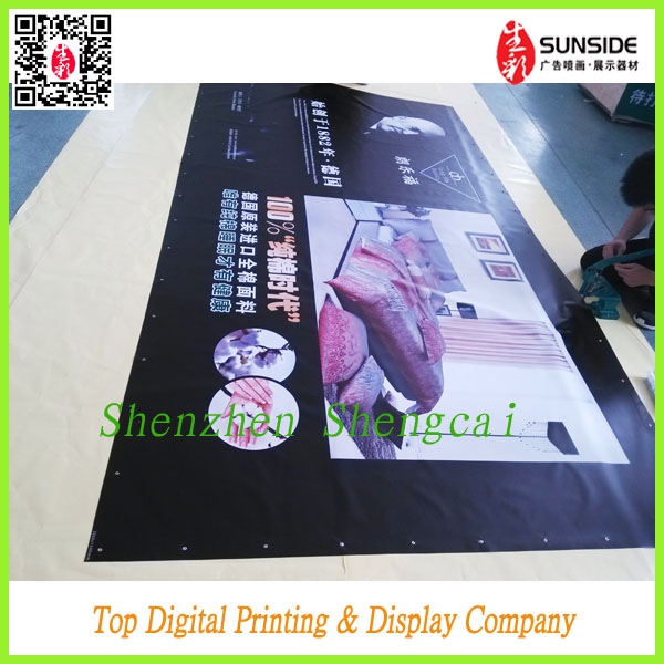Digital printing Backlit outdoor banner For <strong>advertising</strong>