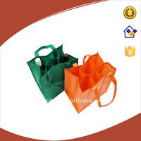 6 bottles non-woven wine bag with custom logo