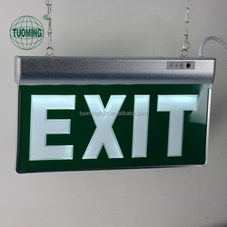 85-265V NI-CD battery luminous LED acrylic fire exit safety signs