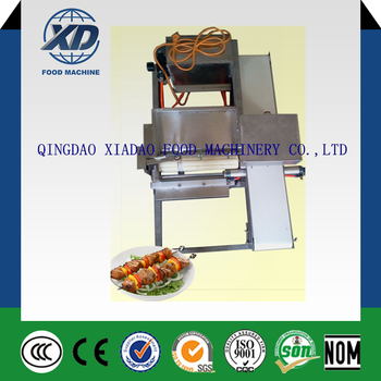 electric meat skewers machine / automatic chicken meat skewer machine/ kebab skewer machine