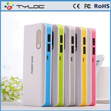 Dual USB portable charger power bank multi functional power bank 10000mah for iphone 6 plus