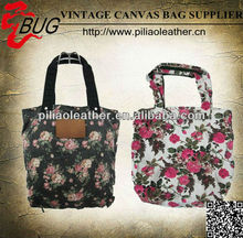 SS 2014 wholesale cotton floral shopping bags give away bag wedding gift bag