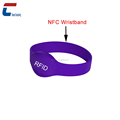 waterproof passive nfc silicone rfid wristband , nfc wristband silicone