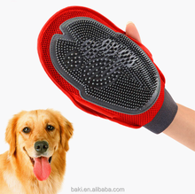 Pet Dog Grooming Glove Massage Bath Duplex Mitt Large Pet Brush Combs