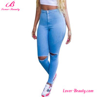 New Design High Waist De Blue