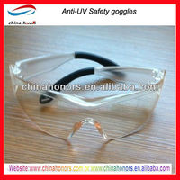 high quality anti-uv goggles safety glasses en166f