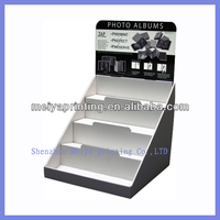 Meiya Full Printing custom corrugated cardboard Counter Display Stands/racks for automotive air fresheners promotion