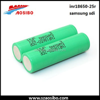 samsung inr 18650-25R 2500 20A rechargeable lithium electric car batteries sale
