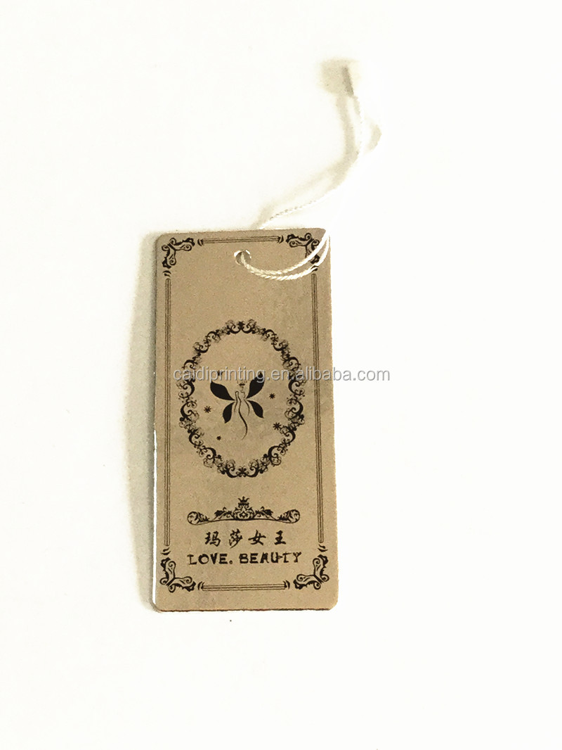2015 Factory promotional art paper hang tag for socks/glove