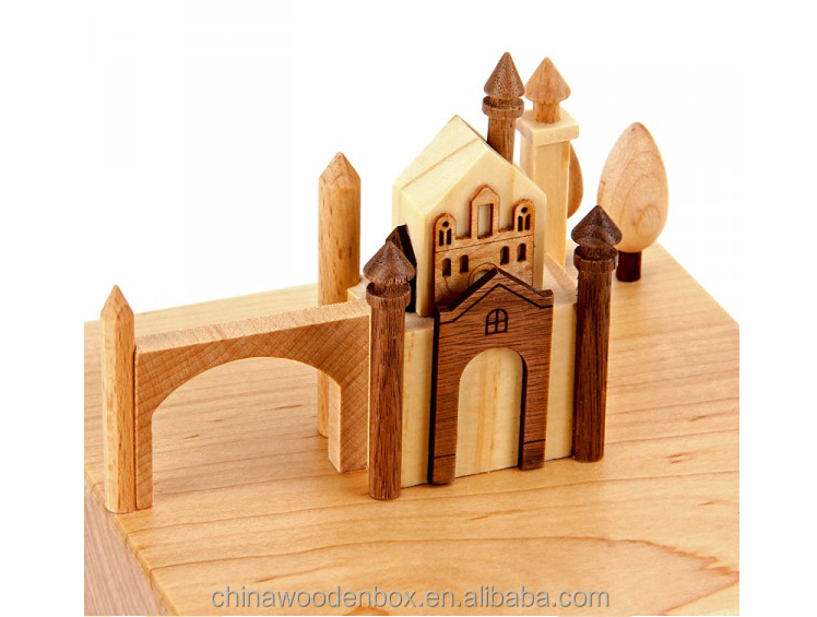 Luxury deluxe Wooden Musical Box for Nativity Scene best sell music boxes