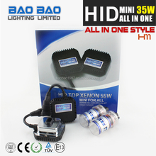 China auto hot sell HID MINI ALL IN ONE ballast, hid bi-xenon projector lens, hid xenon 35w kit MINI ALL IN ONE H4