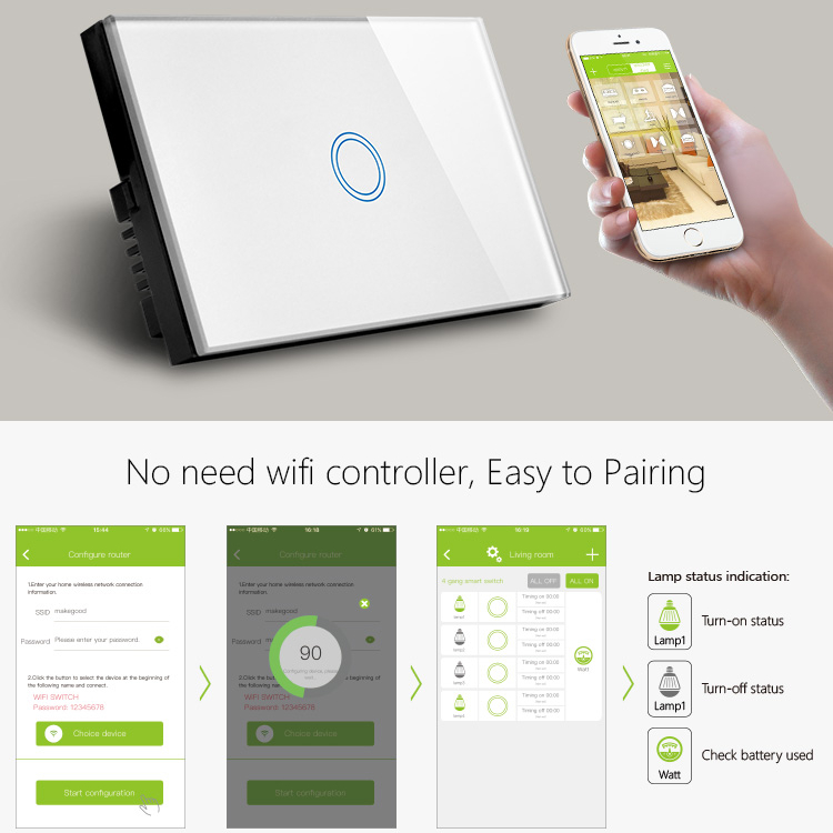 US/AU Standrd Hot Wifi Light Swtich 2.4G WIFI Control Switch 802.1b/<strong>g</strong>/<strong>n</strong> For Smart Home