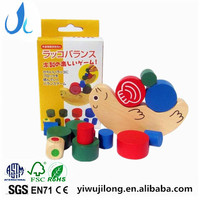 Kids wooden moon balance building blocks toy,Funny DIY wooden balance building blocks toy