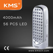 LED emergency lamp with 4000mAh rechargeable battery and easy to carry