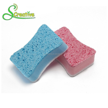 Foam nylon scouring pad cleaning cellulose scrub sponge