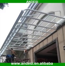 polycarbonate roof doors and windows canopy