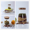 glass storage container food storage container dry seed storage container