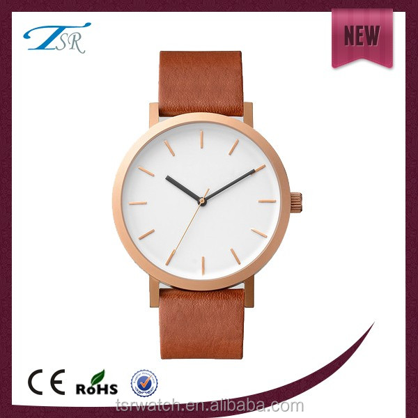 2016 fashion stainless steel quartz leather watches for ladies or men from watch manufacturer,different colors case watch